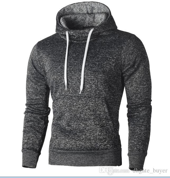 Mann 2018 Langarm Herbst Winter Lässige Sweatshirt Hoodies Top Fashion Solid Trainingsanzüge Sweatshirts Hoodies Mann Kleidung