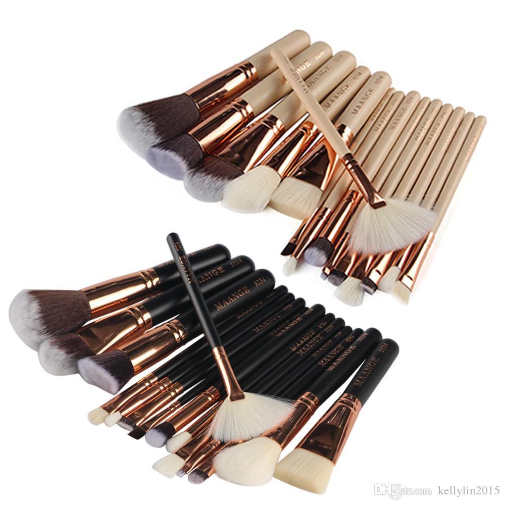 MAANGE Kit de Pinceles de maquillaje 8 15 piezas Base de maquillaje profesional Sombra de ojos Blush cepillo de labios Pinceles de maquillaje Set de belleza Herramientas cosméticas