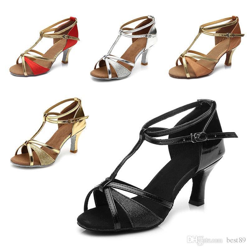 Sapatos de dança para adultos sapatos de dança de tango latino mulheres para a menina salão de baile sapatos indoor marca de desconto heel hight 7 cm 809