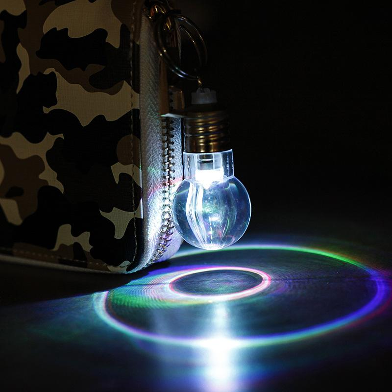LED light bulb Keychain colorful custom gift creative toy giveaways novelty jewelry pendant