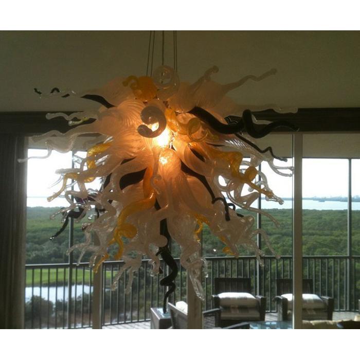 AC 110V 220V Lampadario in vetro soffiato a mano in vetro di Murano Modern Art Decor Home Designed LED Hanging Ceiling Decorative Chandelier