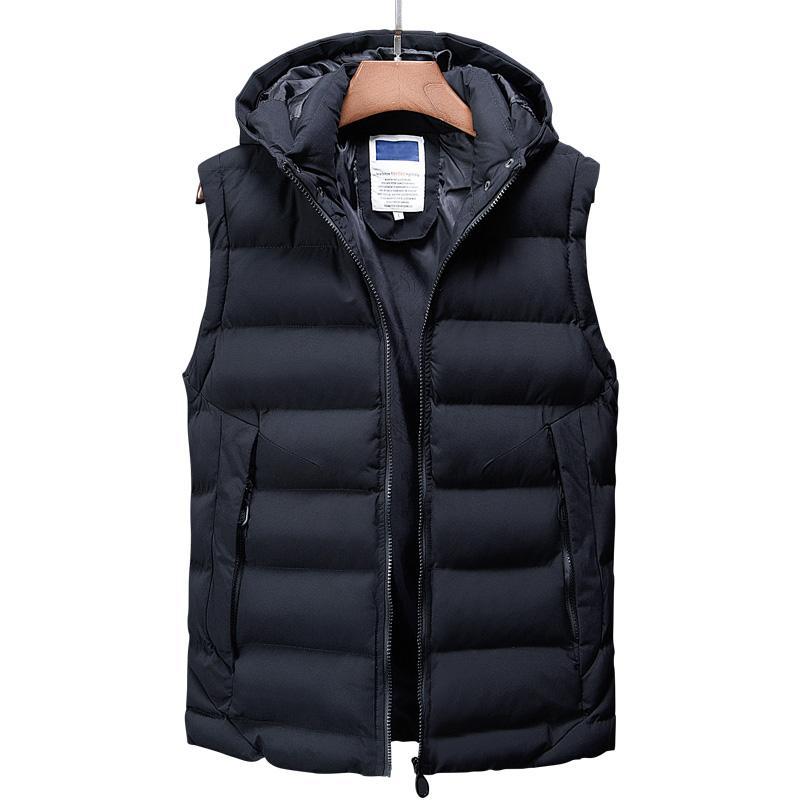 Yelek Erkekler Yeni Şık 2018 Sonbahar Kış Sıcak Kolsuz Ceket Ordu Yelek erkek Yelek Moda Rahat Mont Erkek Kalın