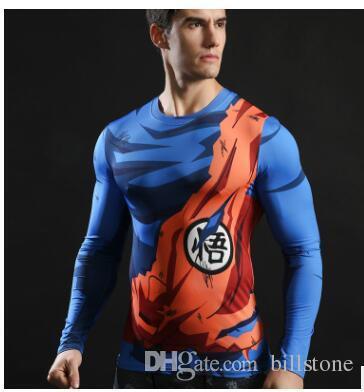 2017 Ball Z Men 3D Dragon Balldragon camiseta de pelota Hombres camiseta anime camiseta 3d camiseta de compresión impresa tops Fitness t