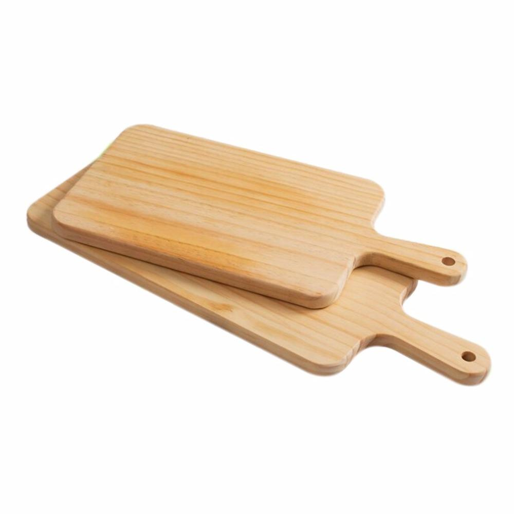 1PC Natural Kitchen Chopping Blocks Bread Pallet With Handle Baking Cutting Board Wooden Board Handmade Kitchen Accessories