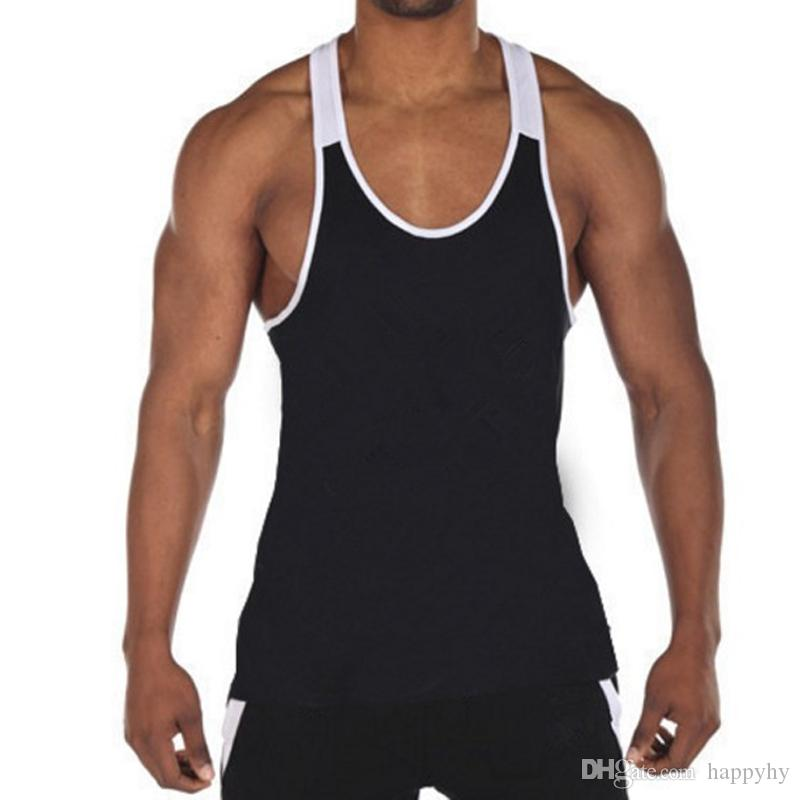 Fashion Golds Canottiera da uomo Maglietta senza maniche Bodybuilding Fitness Stringer Canottiera Canottiera da uomo Vestitini da allenamento di marca