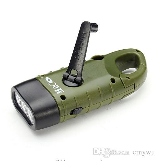 DEL Rechargeable Torche Dynamo Wind Vadiv Manivelle Solaire D/'urgence Lampe de poche