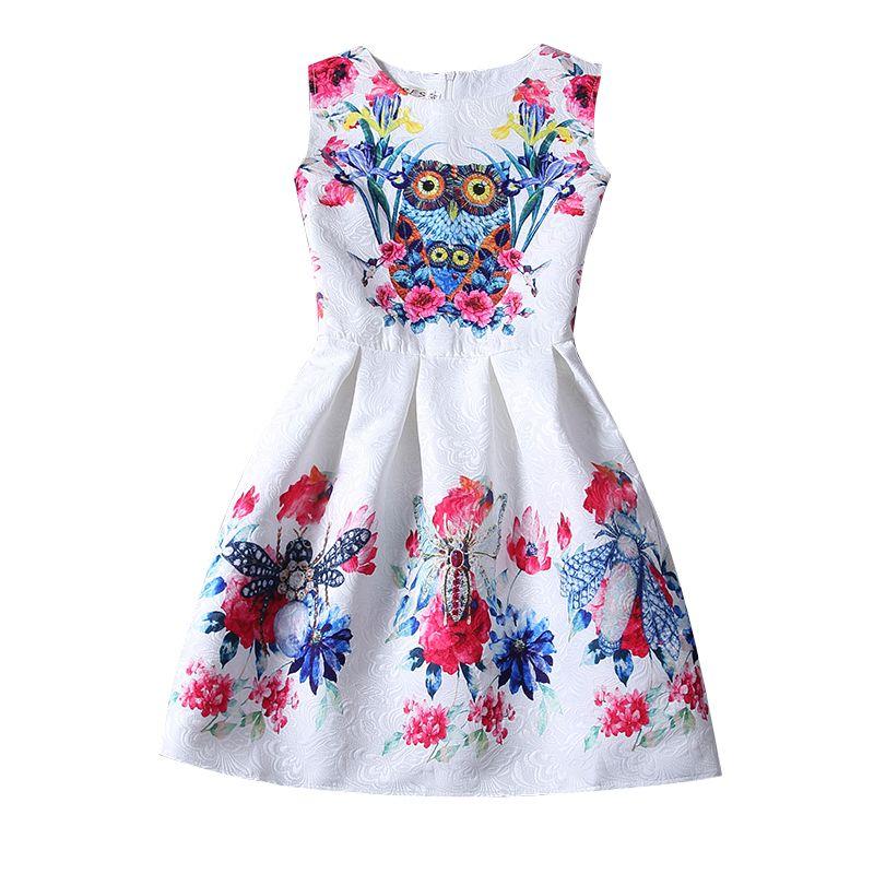6 7 8 Rok Urodziny Dziewczynka Dress Dzieci Odzieżowa Party Casual Princess Dress Girl Dla Dziewczyn Ubrania Kis Sukienki Lato 2017