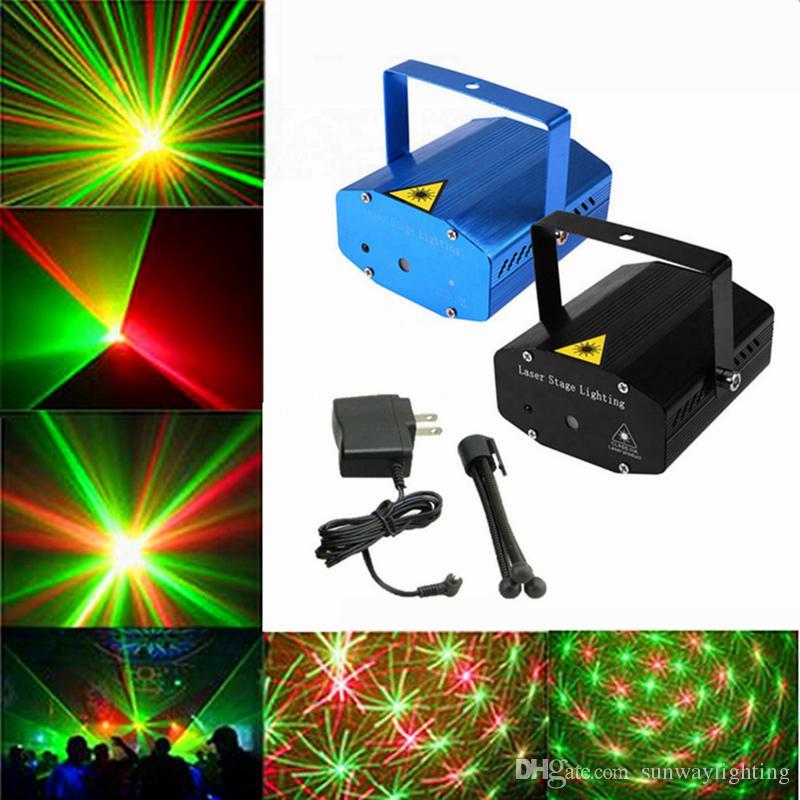 دي إتش إل الحرة الأسود الساخن ميني بروجكتور الأحمر الأخضر DJ ديسكو ضوء المرحلة حزب عيد الميلاد ليزر إضاءة مشاهدة، LD-BK