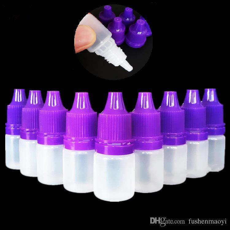 Flacons à aiguille en LDPE avec capuchon de sécurité enfant et embout compte-gouttes épais 3 ml / 5 ml / 10 ml / 15 ml / 20 ml / 30 ml / 50 ml E Flacon compte-gouttes liquide