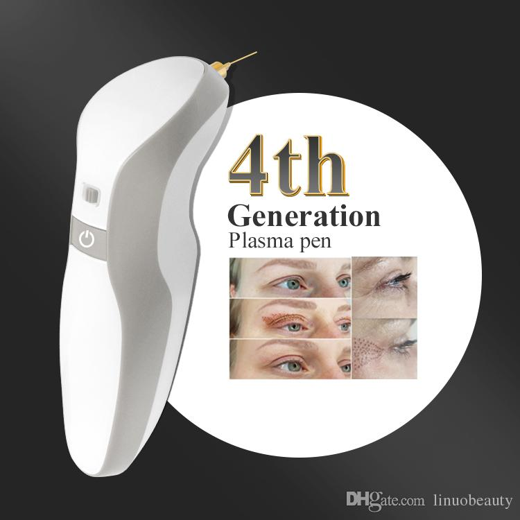 4th plasma pen gray color with 30 needles free eyelid lift wrinkle Skin lifting tightening anti-wrinkle plasma pen mole remover machine