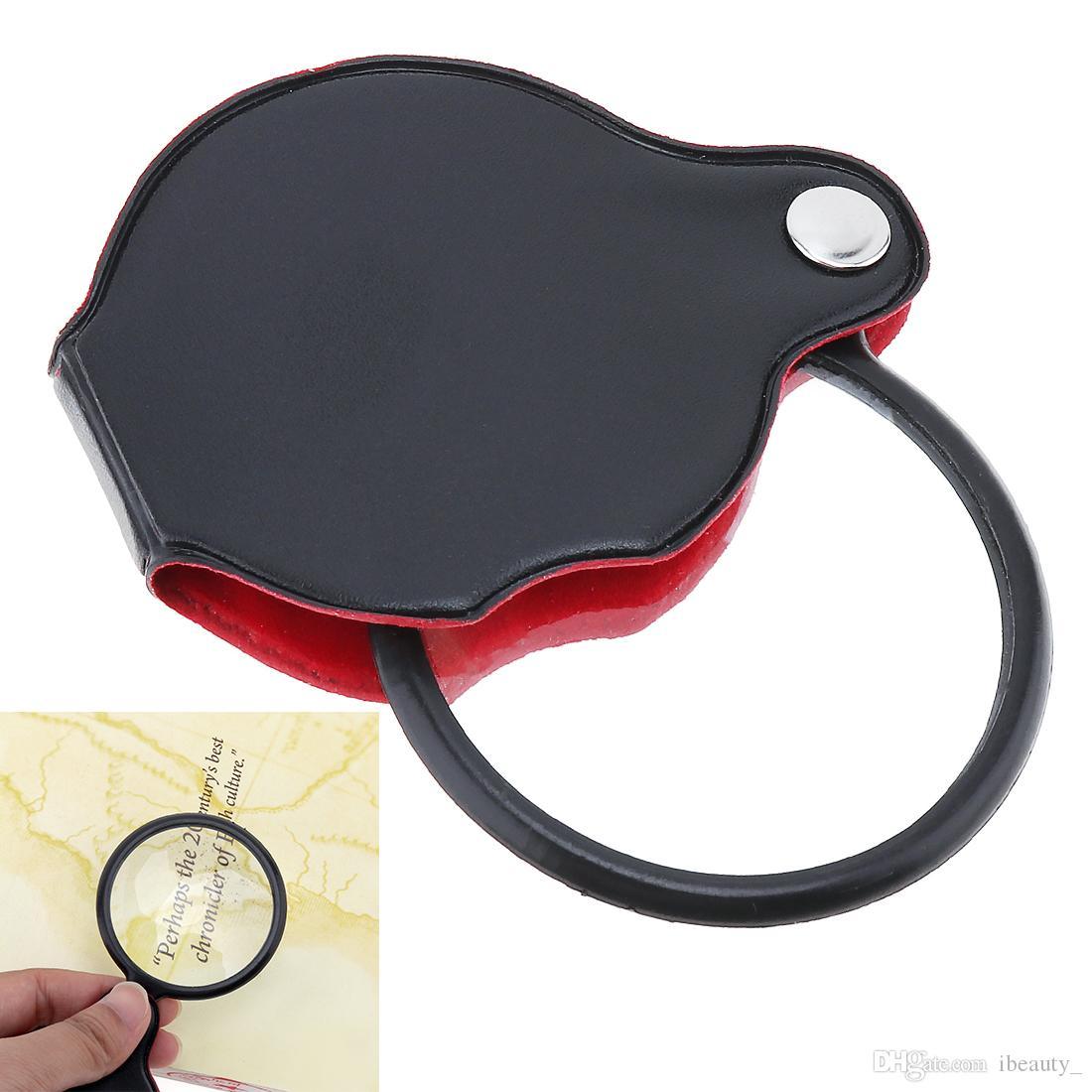 Mini lente d'ingrandimento portatile pieghevole in vetro ottico 8X con protezione