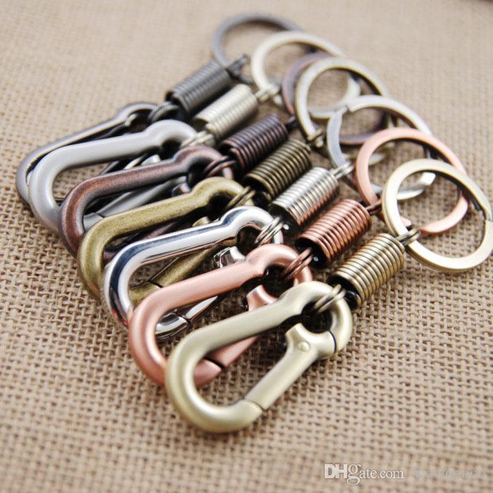 Portachiavi regalo di nozze Strumento EDC in lega di zinco portachiavi borsa a molla cintura clip moschettone fibbia portachiavi X017