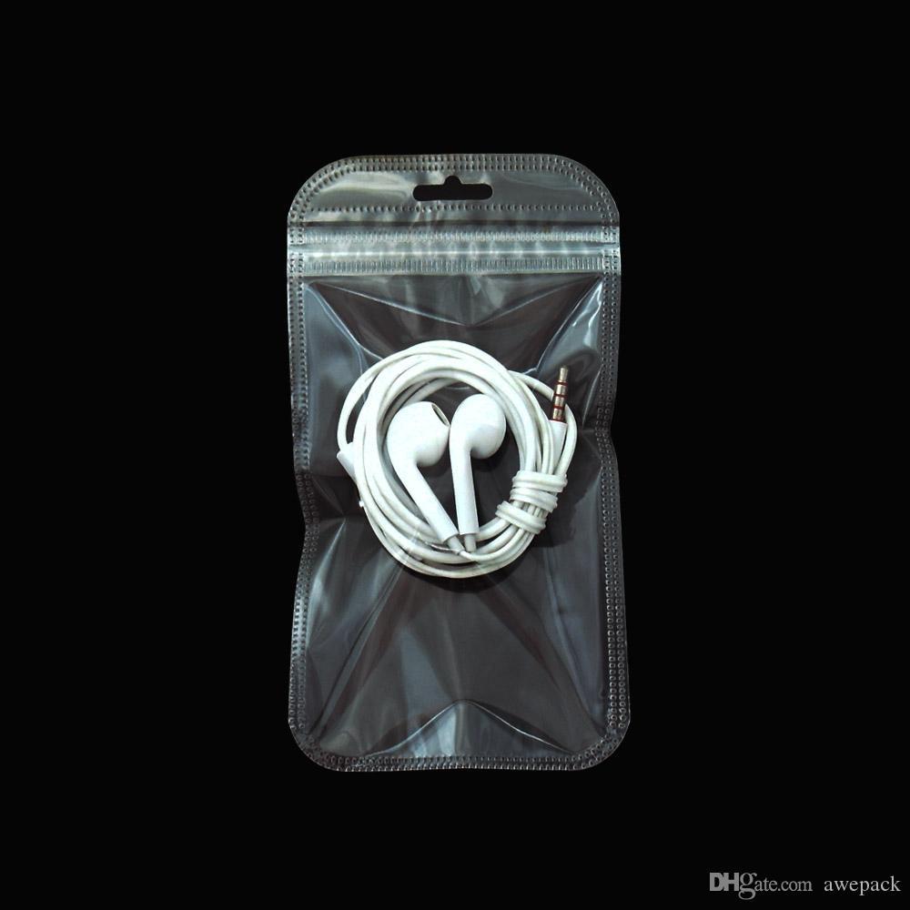 200 adet / grup 8.5 * 16 cm Yeniden Kapatılabilir Fermuar Zip Kilit Temizle Plastik Paket Çanta Elektronik Aksesuar Depolama Kavrama Mühür Şeffaf Poli Çanta