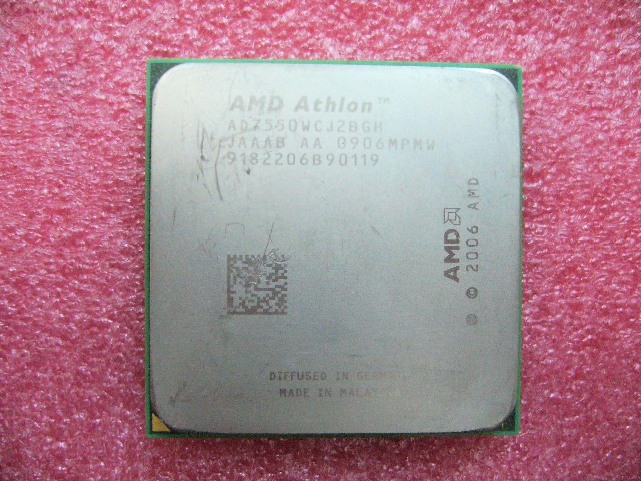 QTY 1X AMD Athlon X2 7550 ثنائي النواة 2.5 جيجاهرتز (AD7550WCJ2BGH) مقبس وحدة المعالجة المركزية AM2 +
