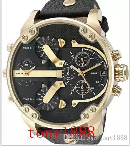 Envío de la gota hombres de calidad superior acero inoxidable cronógrafo militar reloj de cuarzo DZ7348 DZ7349 DZ7370 DZ7371 DZ7395 DZ7396 DZ7399 DZ7401