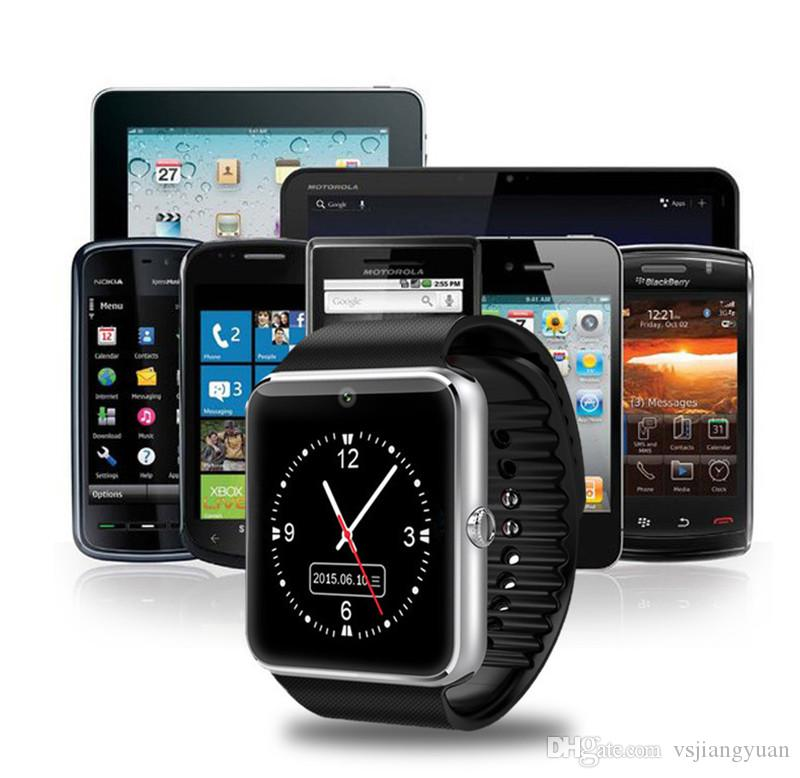 GT08 Bluetooth Smart Watch with SIM Card Slot and NFC Health Watchs for Android and IOS Apple iphone Smartphone Bracelet Smartwatch