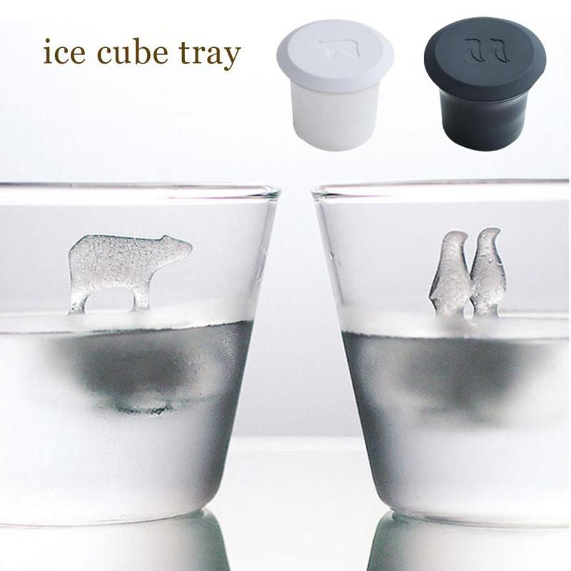 2pcs /Set Polar Bear Penguin Silicone Jelly Choc Ice Cube Mold Maker Mould Party Novelty Homemade Decor Party Decoration