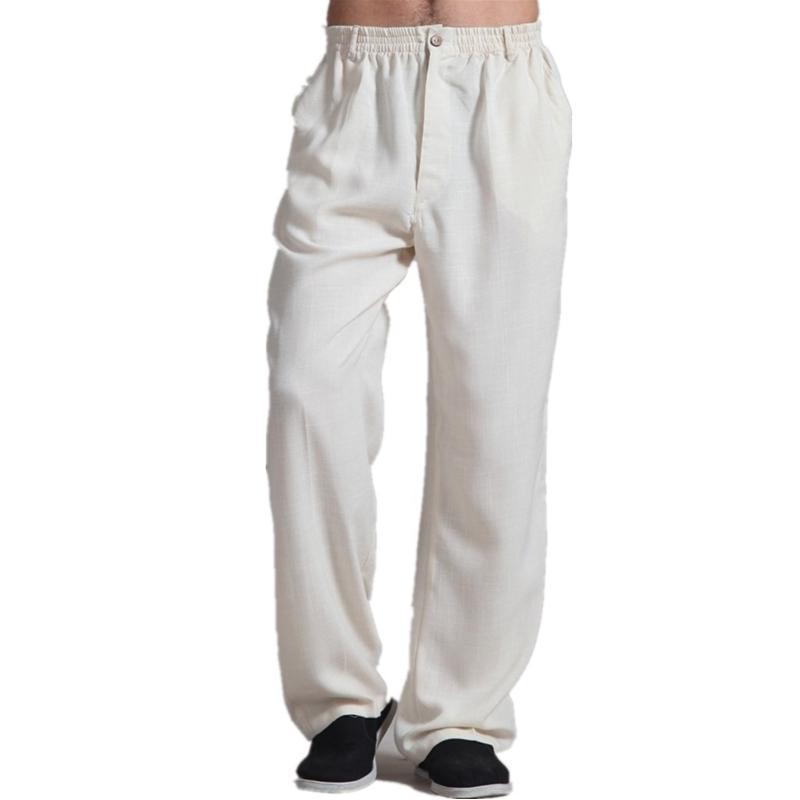Ücretsiz Kargo Erkek Çinli Stil Giyim tai chi Pantolon KungFu pantolon Pantolon Kostüm taiji giyim 2 renk
