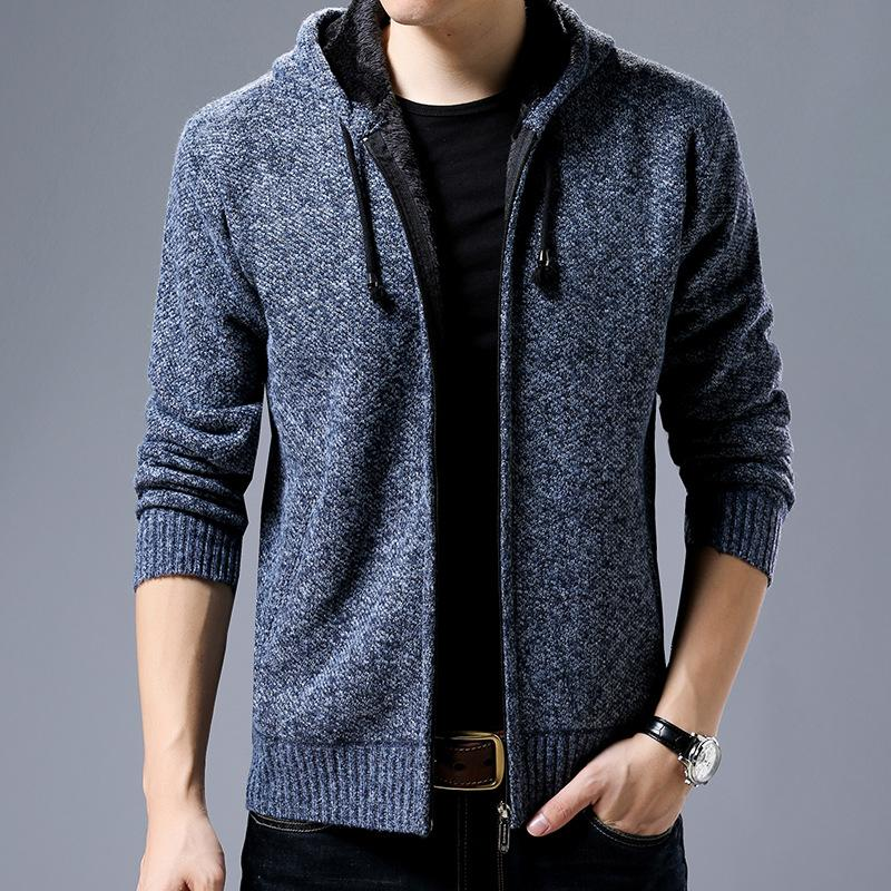 b8fa52f58 Men'S Winter Wear, Long Sleeves, Hooded, Thick, Cardigan, Sweater, Youth,  Personality, Classic Men'S Jackets Mens Outerwear Jackets Women From ...
