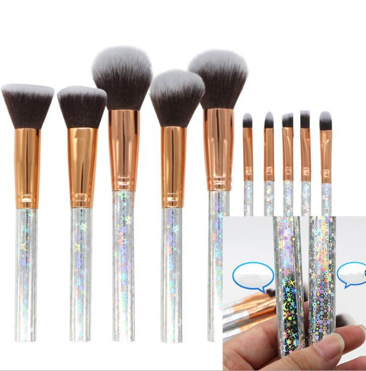 Makeup Brushes Set Stars Circle Design