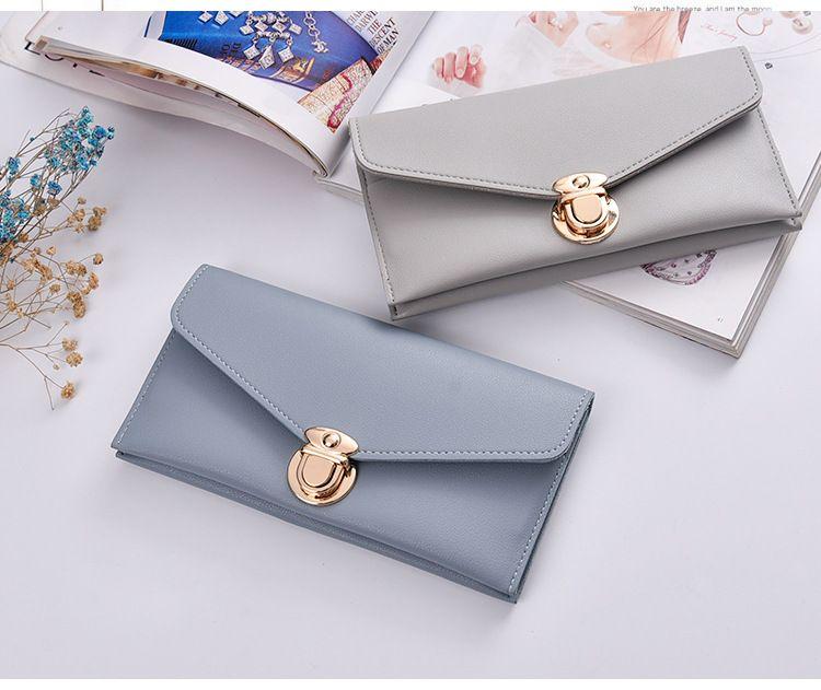 Nouveau Bi-Fold Femmes Purse portefeuille long Rivets Embrayage Enveloppe Porte-carte