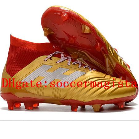2018 Top Quality Mens Soccer Cleats Predator 18.1 FG Soccer Shoes Predator 18 High Ankle Football Boots Outdoor Scarpe Da Calcio Hot Leather Booties