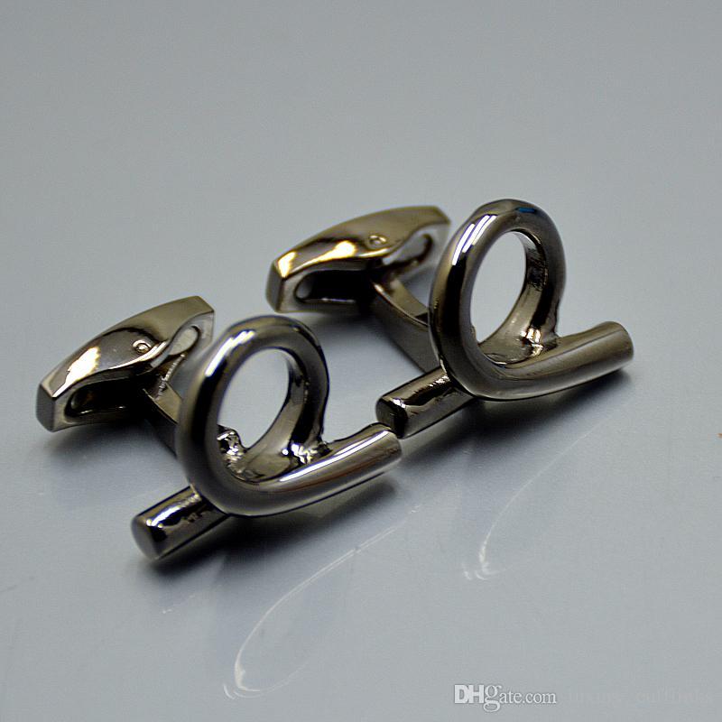 Toptan Fiyat Gümüş / Altın Erkekler Gömlek Kol Düğmeleri Promosyon Takı Groom Manşet Linkler Adam Hediye Için