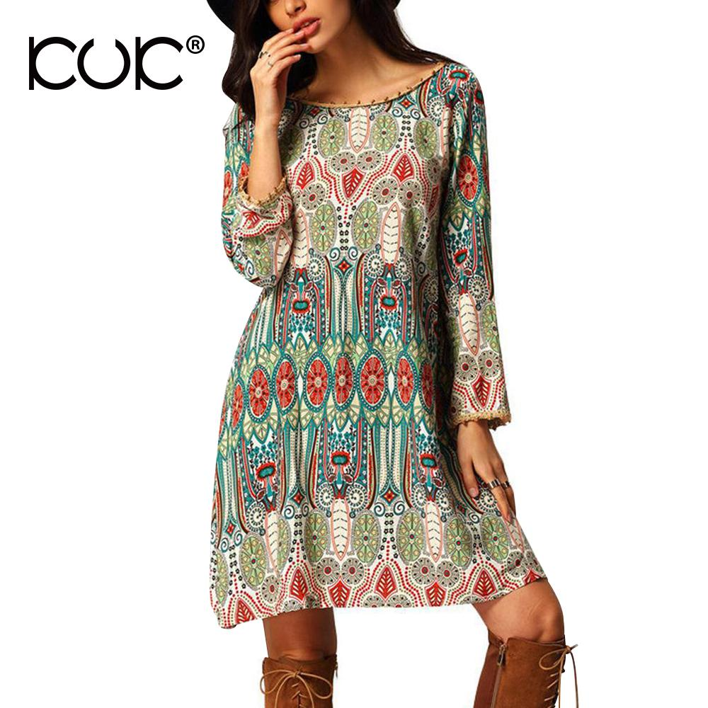 primer nivel 3c1fd 96efe 2019 Kuk Ethnic Dress Vestido Hippie Boho Chic Summer Beach Tunic Floral  Print 3XL Plus Size Women Clothing Backless Retro Dress A145 From Fos8, ...