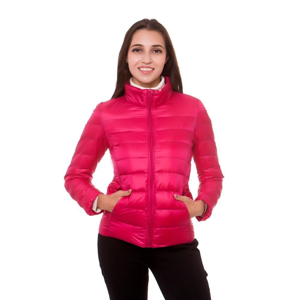 Artı Boyutu kadın Aşağı Ceketler Sonbahar Kış Ince Standı Yaka Fermuar Kore Tarzı Kadın Aşağı Palto Parkas Giysileri Için Kadın