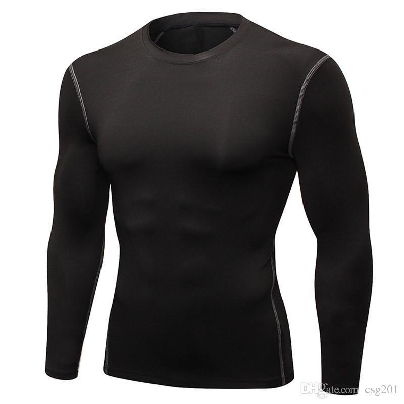 Gym Tshirt Sport Compression Clothing Active Tees For Men Workout Tee Shirt Long Sleeve Fitness Jerseys Mma Rashguard Sweatshirt Quick Dry