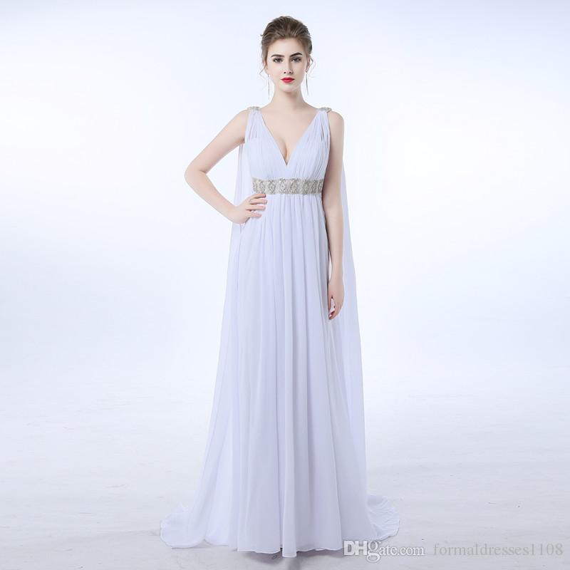 Beach Greek Style Wedding Dress Plus Size Bridal Gown High Waist Pregnant  Gothic Maternity Wedding Dress Beach Wedding Dress Bridal Shops From ...