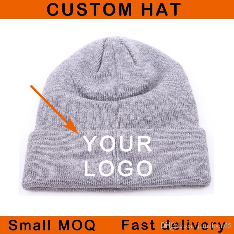 Satışa kış şapka 3D dikiş üzerinde küçük moq akrilik malzeme unisex gömme boyutu spor sıcak şapka özel kap kasketleri