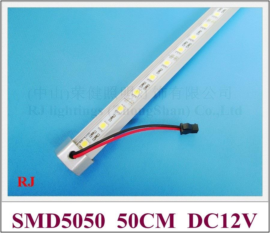 LED Rigid Strip 50cm Aluminium Bar 5050 LED Hard Strip Lamp Cabinet Light V Vorm DC12V 7W 50cm 30 LED