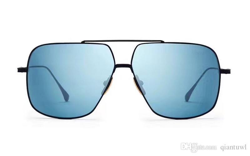 Cool Mens Square Métal Noir / Bleu Pilote Lunettes De Soleil 005 Sonnenbrille lunettes de Soleil Lunettes Conduite Lunettes Mode Nouveau dans la boîte