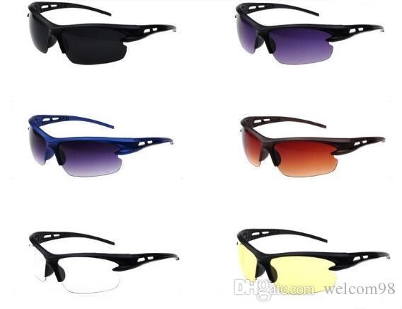 10 قطعة / الوحدة مزيج الألوان الرياضة الأزياء uv حماية الشمس النظارات الشمسية للعيون GL105