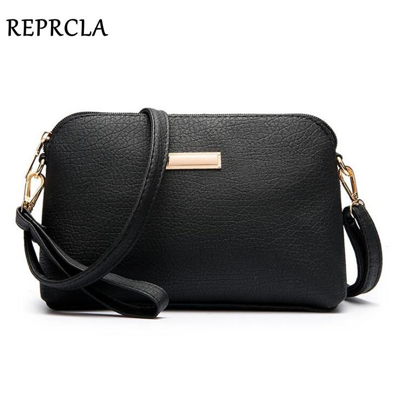 REPRCLA New Casual Shoulder Bag PU Leather Women Messenger Bags Crossbody Lady Clutch Purse Designer Handbag Women Bags D18102407