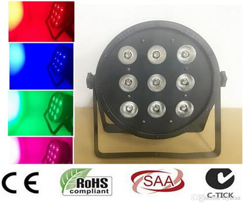 9x12W RGBW 4IN1 led par 54 DJ Par LED RGBW Wash Disco Light DMX Controller Free Shipping