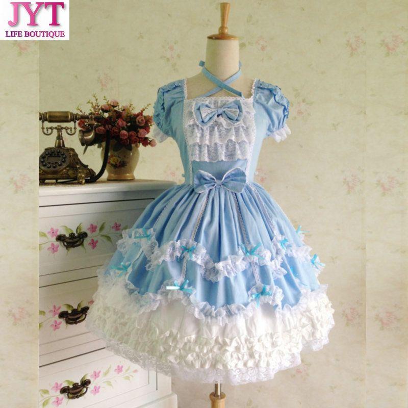 2017 Plus Size Princess Cosplay Costume For Girl Lolita Dress ...