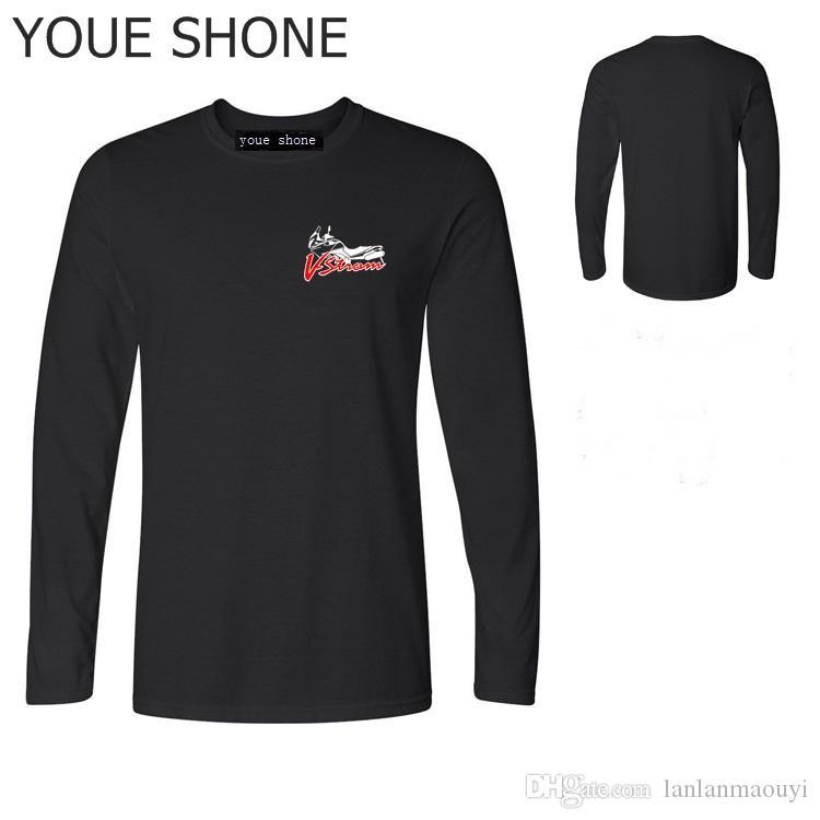 T-shirt da uomo in cotone manica lunga T-shirt da uomo T moda alta qualità Suzuki V-strom DL 650 T-shirt da calcio squadra Motorsport Logo T-shirt