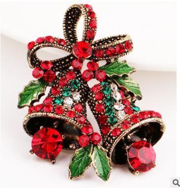 Рождественские броши булавки подарки рождественские колокола носки корсажи бантом брошь хорошее качество ювелирных изделий контактный индивидуальный пакет 85