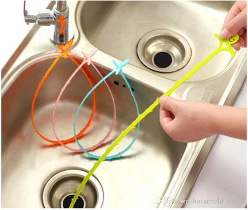 2019 Kitchen Anti Clogging Sink Cleaner Bathroom Floor Sewer Drain Cleaning  Brushes 51cm Flexible Hair Removal Cleaning Tools From Household_shop2, ...