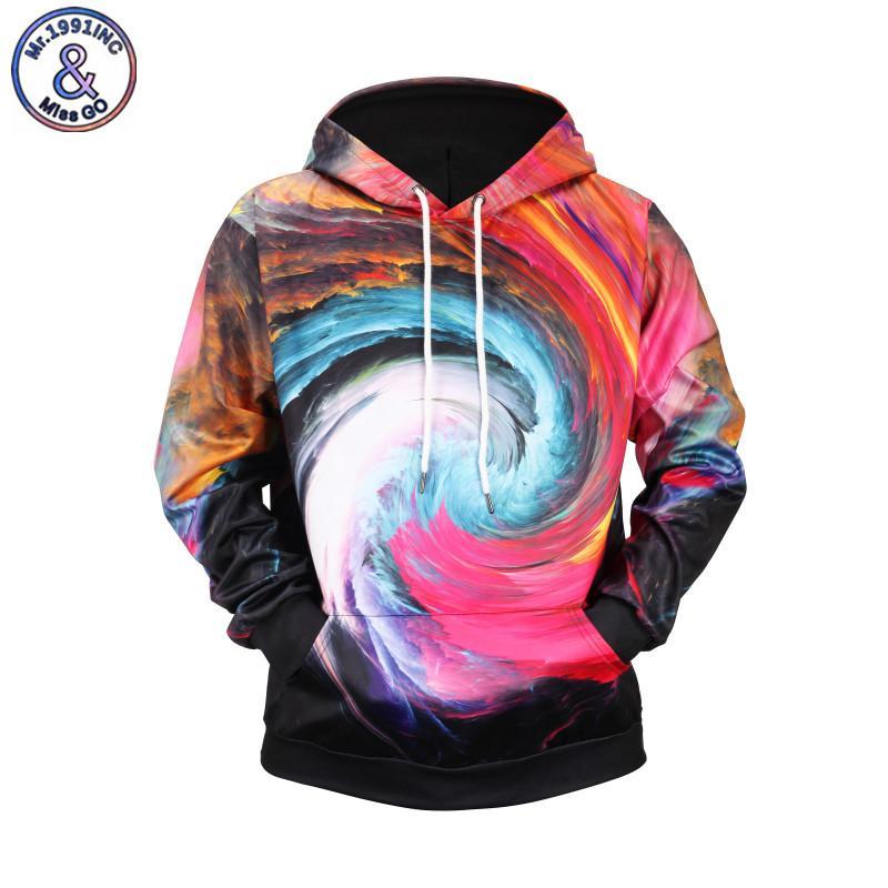 Mr.1991INC 3D Hoodies Men Hooded Sweatshirts Print Colorful Swirl Hoody Casual Pullovers Streetwear Tops Hoodies EU Size XXXL