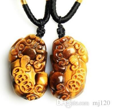 Природный Золотой тигровый глаз камень, чтобы избежать зла кулон дерево изменение камень кулон Кристалл благоприятный нефрит взрывной Оптовая