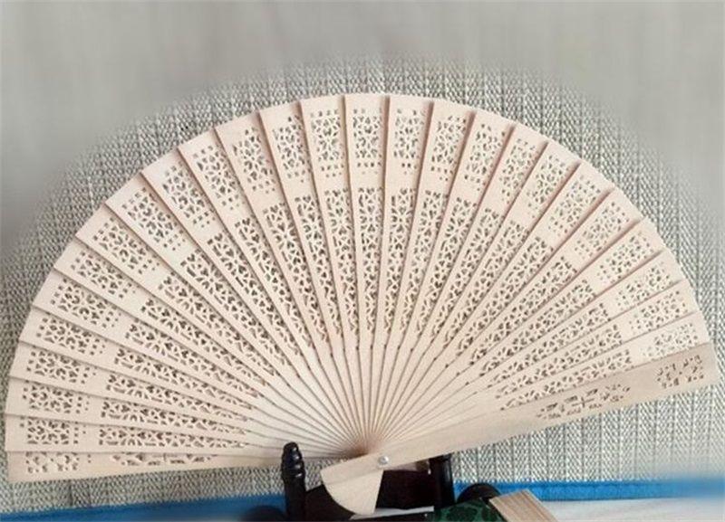 Imitation Sandalwood Folding Fan Retro Characteristics Wood Silk Hand Wood Fans Hollow Out Design Summer Cooling Favor Gifts 1 8xf ii