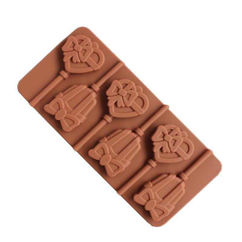 القوس الحب شكل جميل جرس صغير هلام السيليكا الشوكولاتة نموذج سيليكون قالب الخبز أدوات للكعك