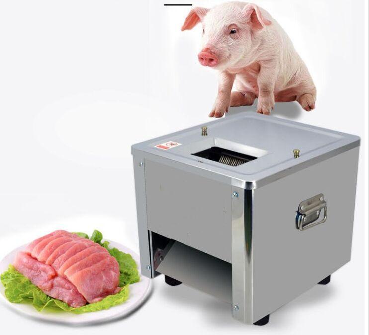آلة تقطيع اللحم الكهربائية آلة تقطيع اللحوم التجارية الفولاذ المقاوم للصدأ دليل تقطيع اللحم الكهربائية