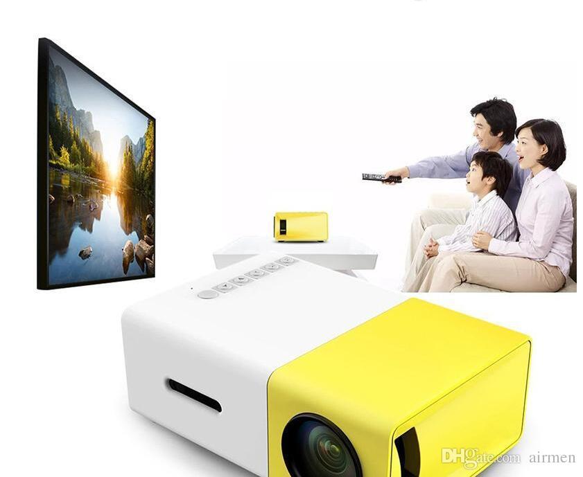 YG300 LED Portable Projector 400-600LM 3.5mm Audio 320 x 240 Pixels YG-300 HDMI USB Mini Projector Home Media Player