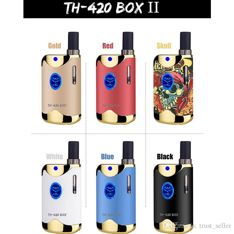 100% Vorlage Kangvape TH420 II Starter Kit 650mAh VV TH420 2 Batteriebox Mod 0,5 ml 92a3 dickes Öl Cartridge-Behälter Authentic
