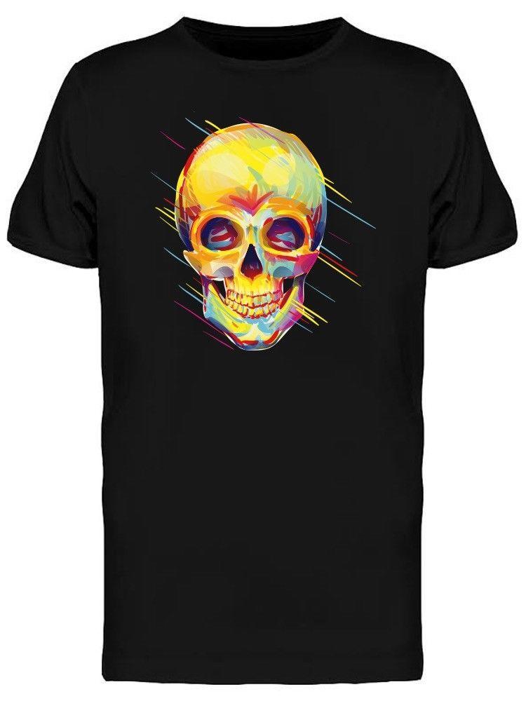 Красочные психоделический череп мужская Tee-Image оптом скидка прохладный повседневная гордость Майка мужчины унисекс новая мода футболка свободный размер