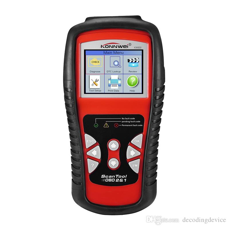 Заводские Свободный DHL автомобиля диагностический инструмент Автомобильный сканер OBD 2 KW830 инструменты EOBD лучше, чем ELM327 Engine Fault Code Reader Сканер